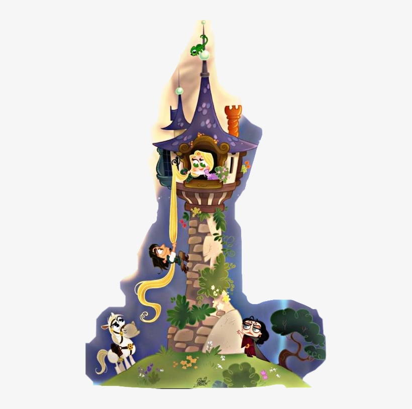 Rapunzel clipart tower drawing. Free download best