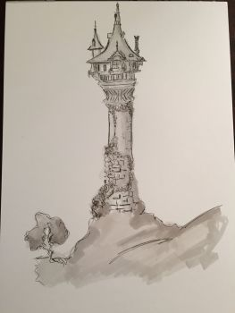 Rapunzel clipart tower drawing. Image result for how