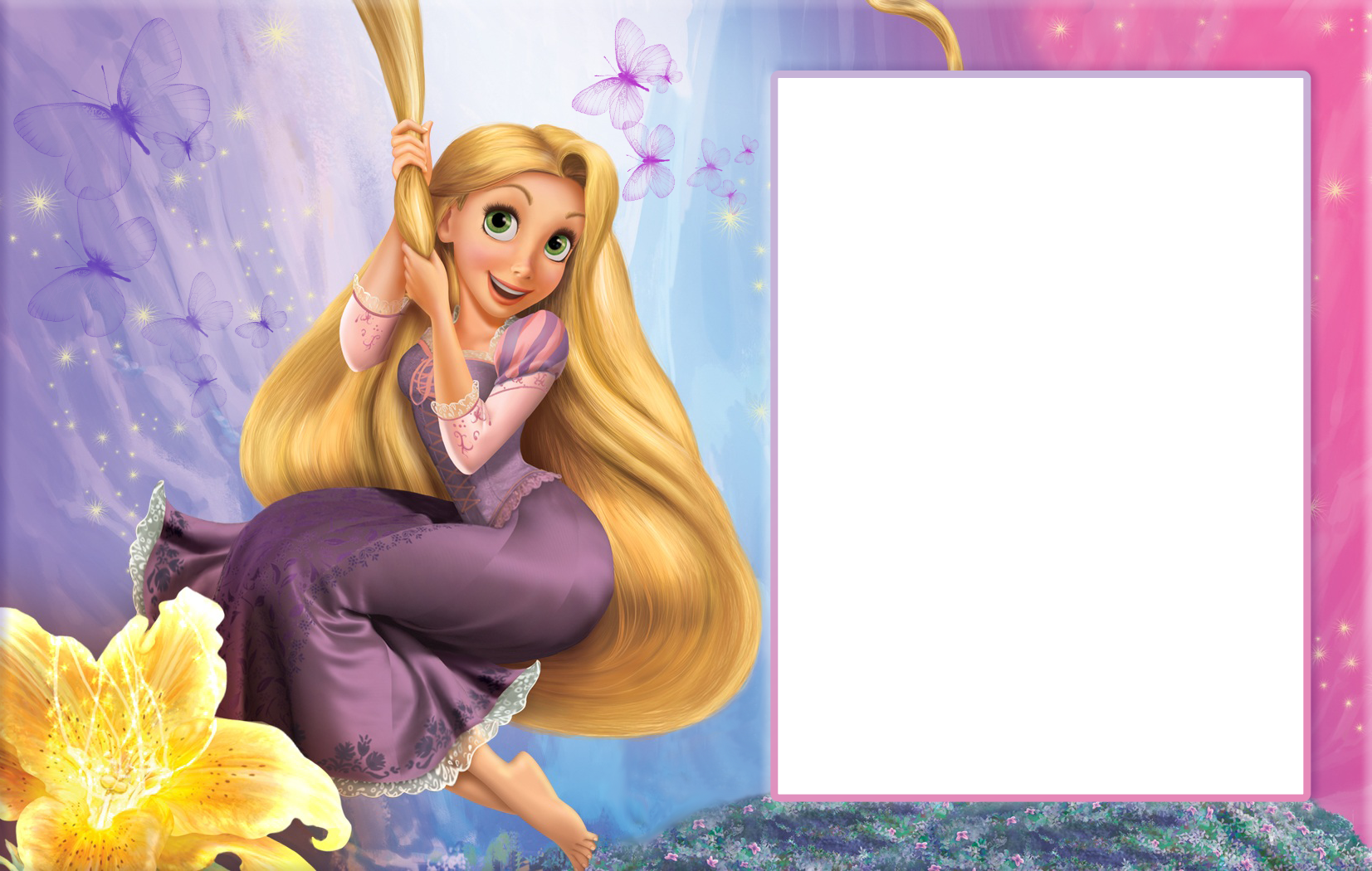 Rapunzel clipart transparent background. Child png frame gallery