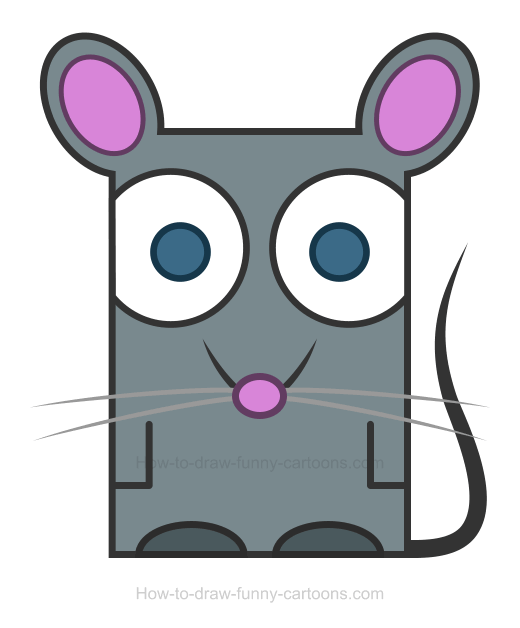 Rat clipart. How to draw a