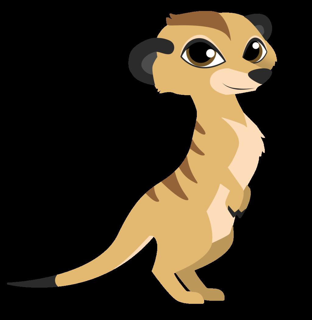 Rodent meerkat. Rat clipart mascot