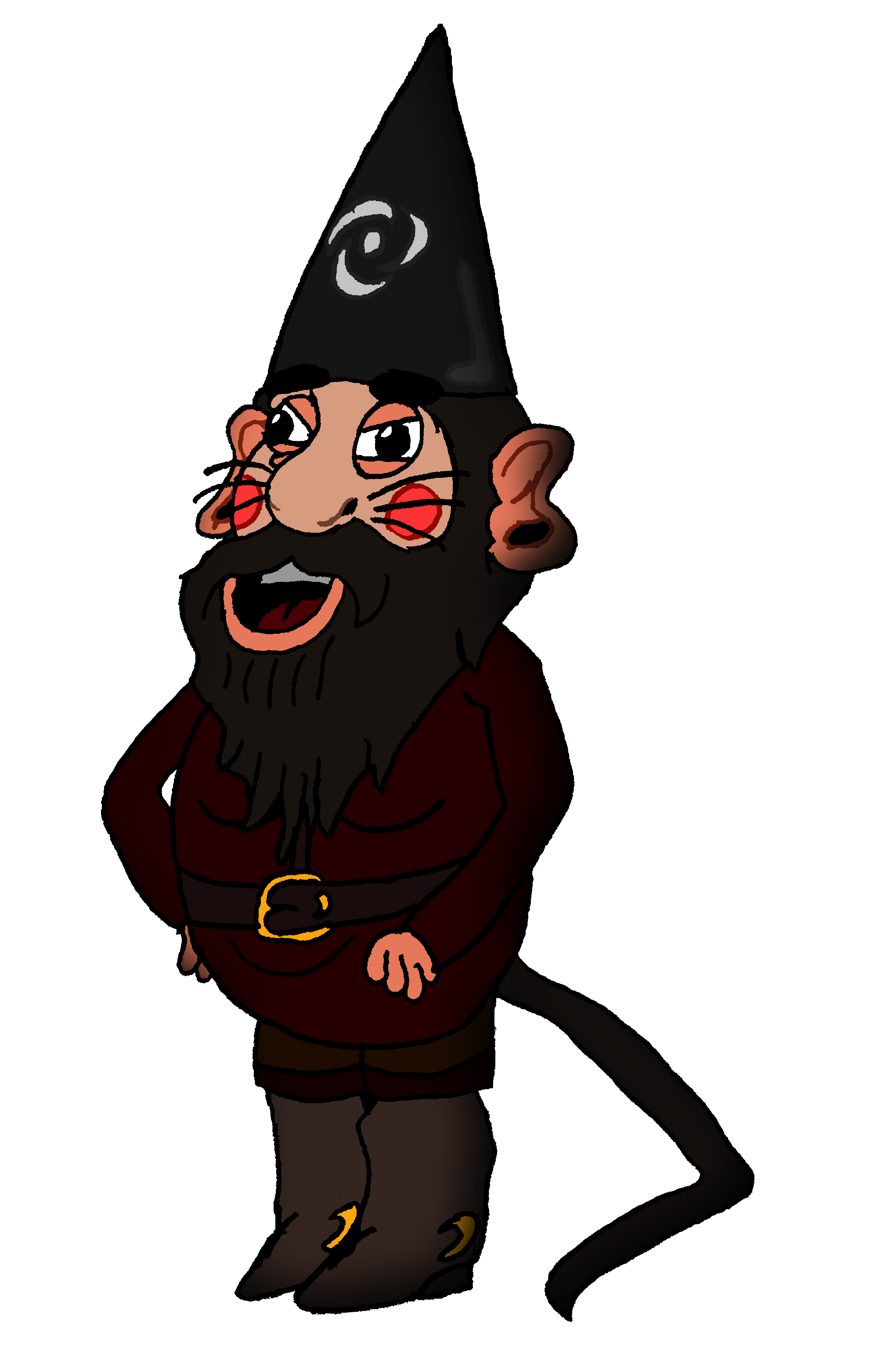 Rat clipart mascot. The gnome hybrid by