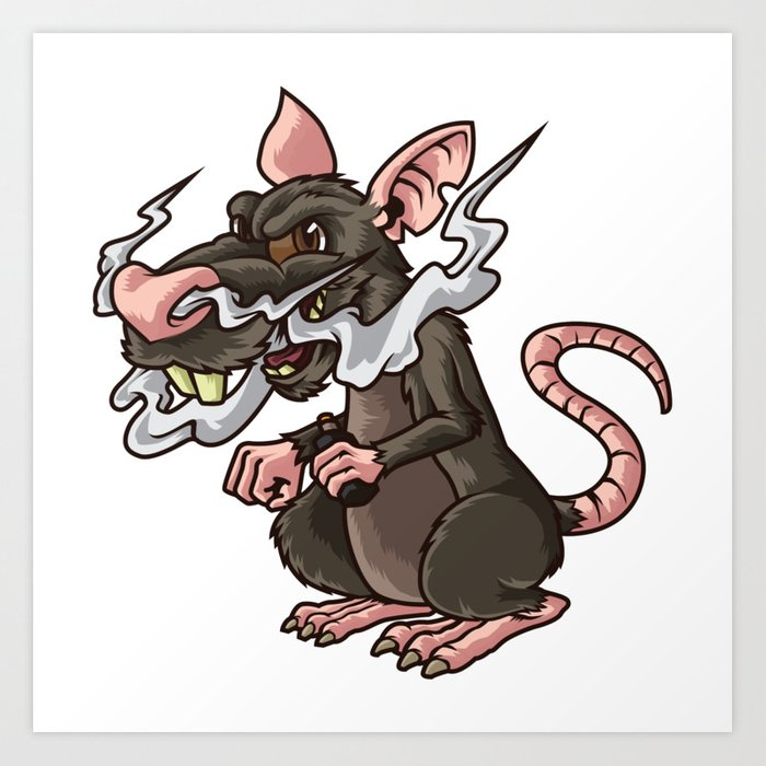 Rat clipart vermin. Vaping illustration rattus vape