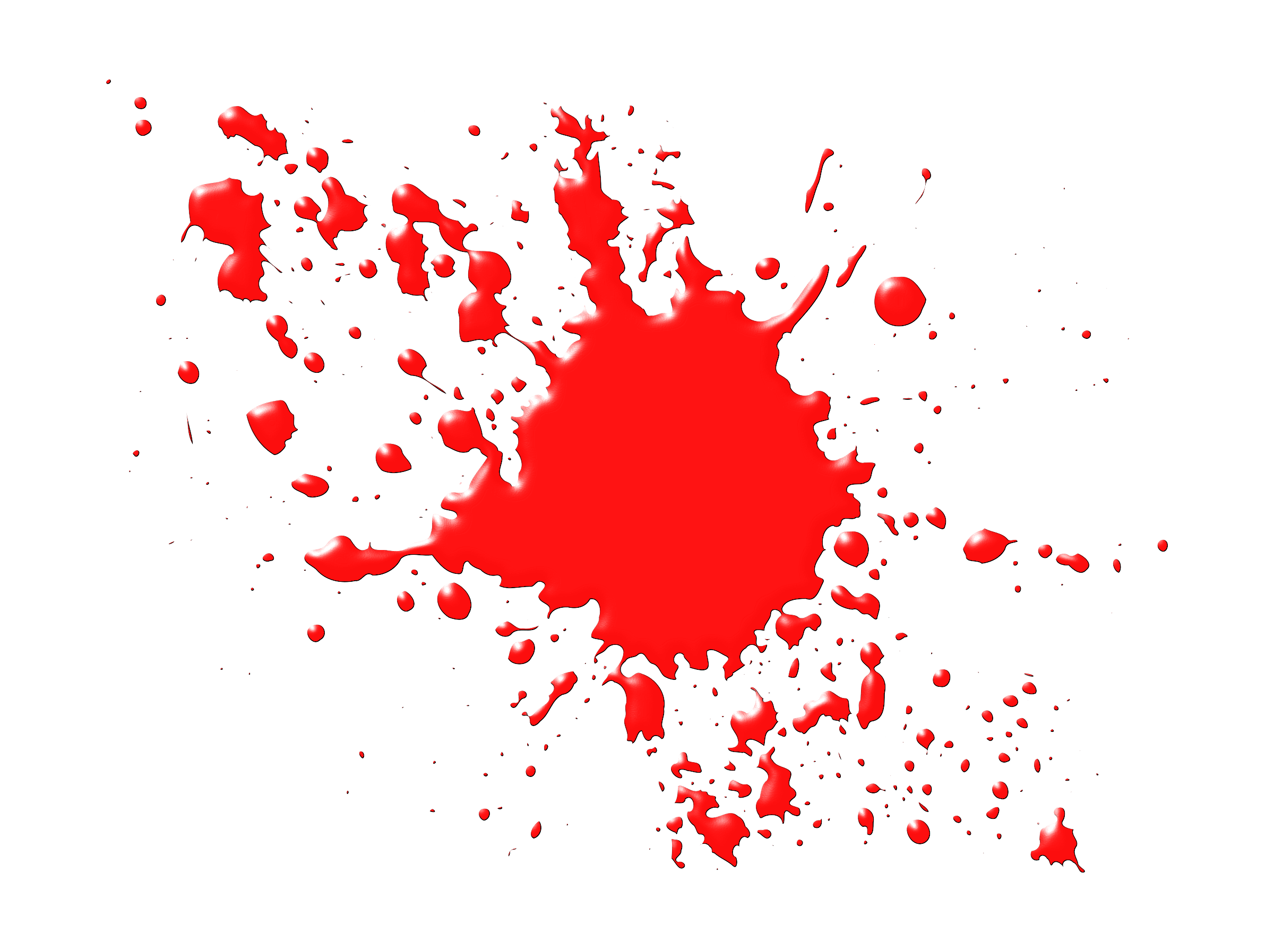 Realistic blood dripping png. Clear background splatters