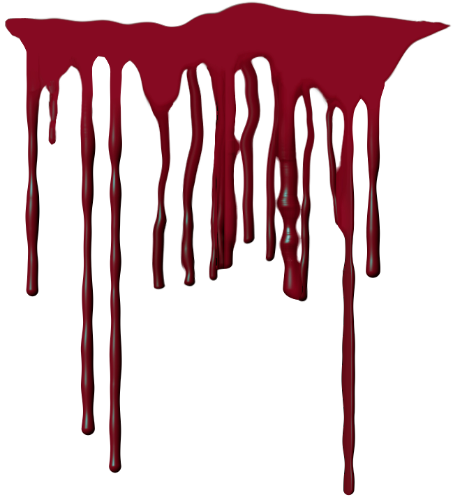 Realistic blood png. Dripping image