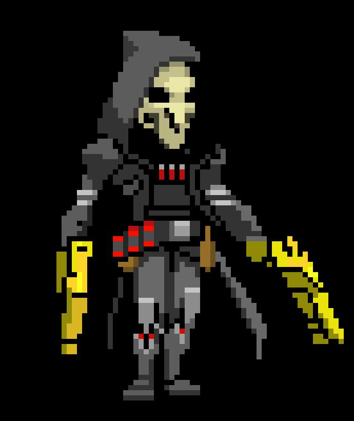 From pixel art maker. Reaper png overwatch