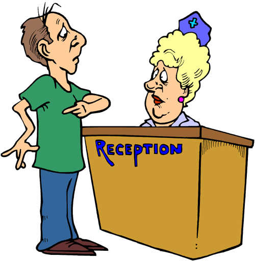 collection of hotel. Receptionist clipart