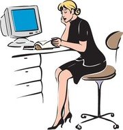 Free and vector graphics. Receptionist clipart