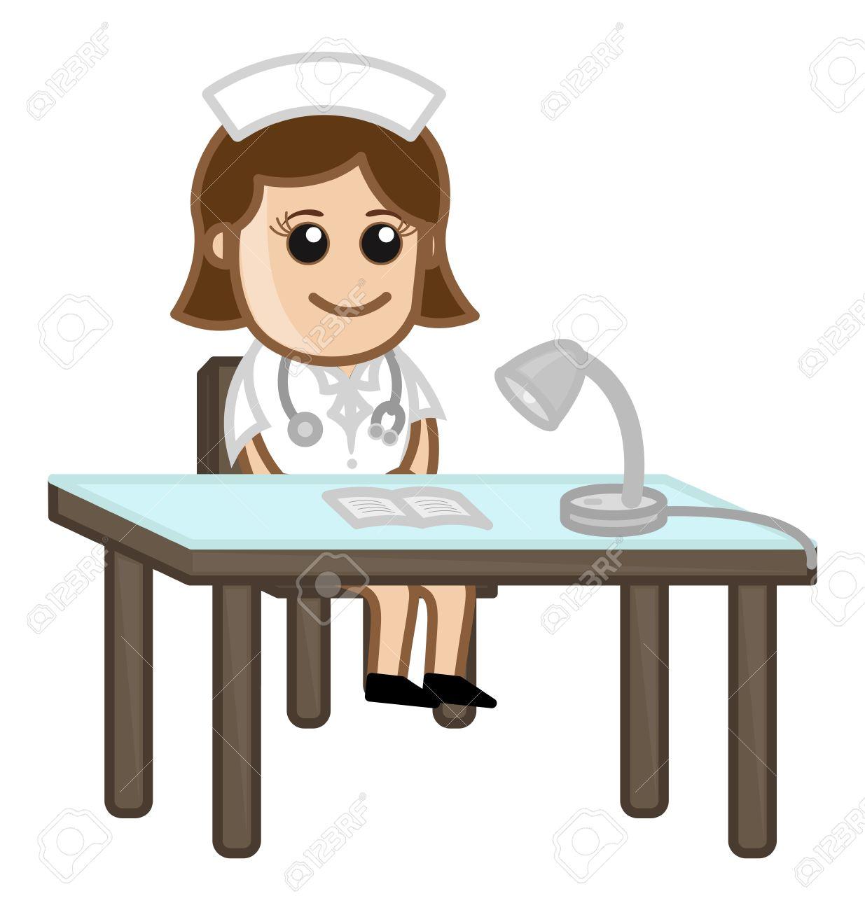 Receptionist clipart. Patient