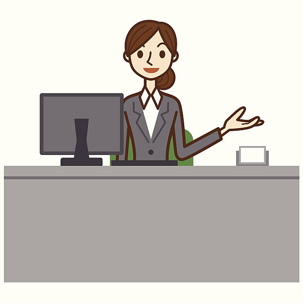 Station. Receptionist clipart