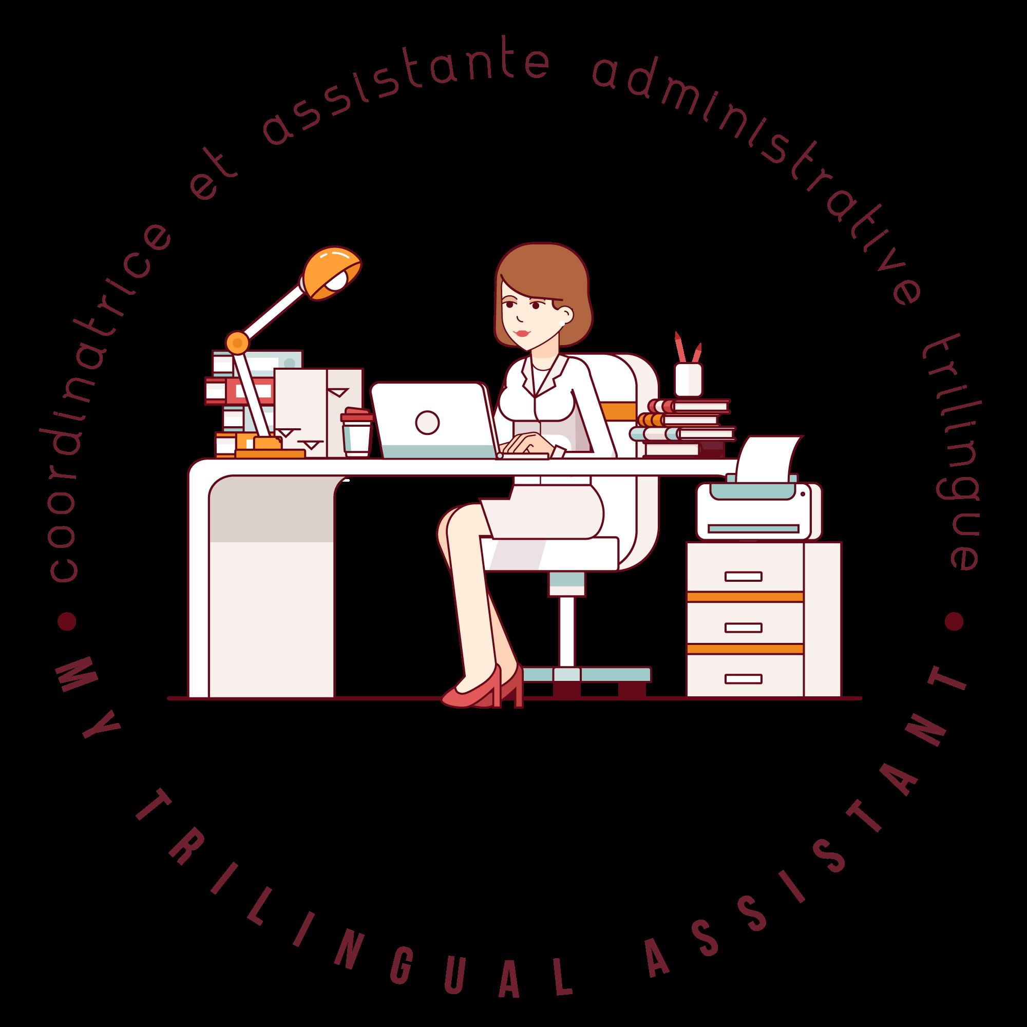My trilingual coordinatrice et. Receptionist clipart admin assistant
