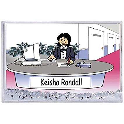 Receptionist clipart assistant manager. Amazon com personalized ntt