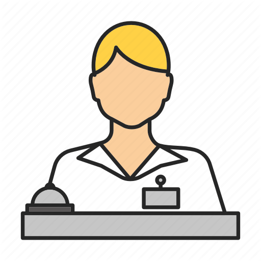 professions filled color. Receptionist clipart assistant manager
