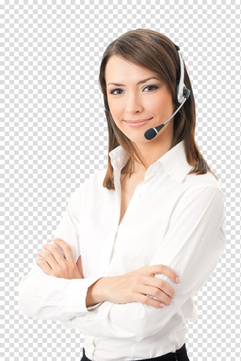 Smiling woman in white. Receptionist clipart call center girl