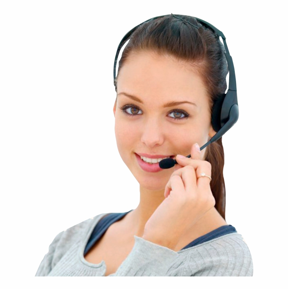 Receptionist clipart call center girl. Png tech support images