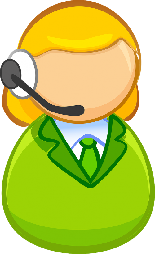 Receptionist clipart call center girl. Talk say saying teeth