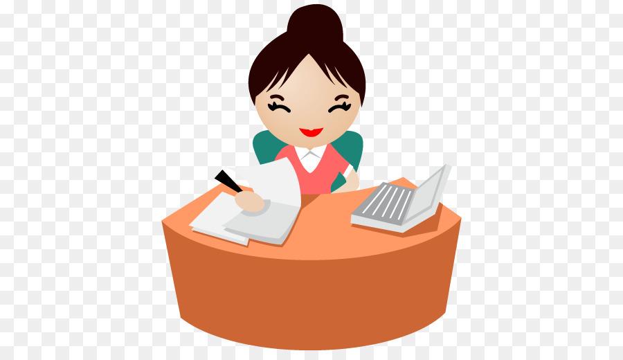 Business background secretary product. Receptionist clipart clip art
