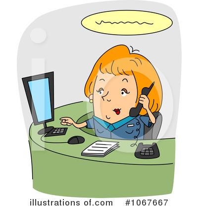 Receptionist clipart executive secretary. Illustration by bnp design