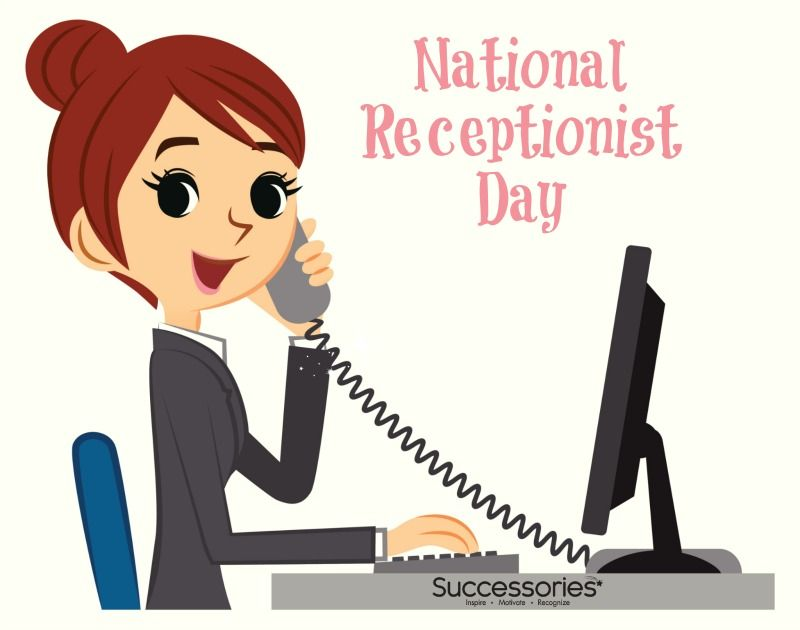 Receptionist clipart happy. National day thank you