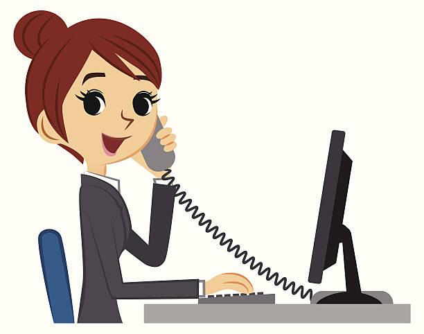 Receptionist clipart. Station