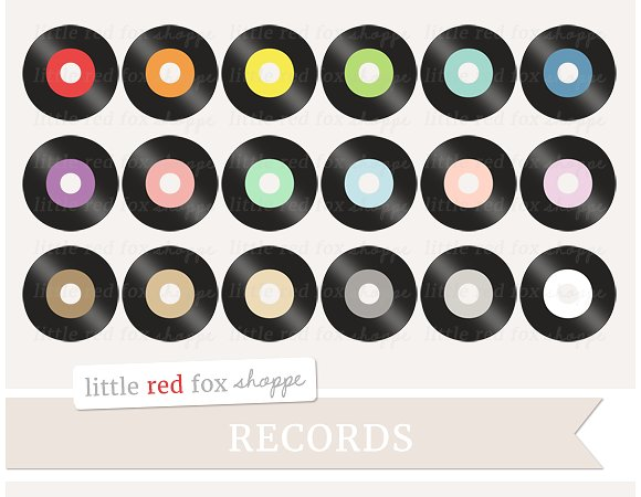 Record clipart. Illustrations creative market