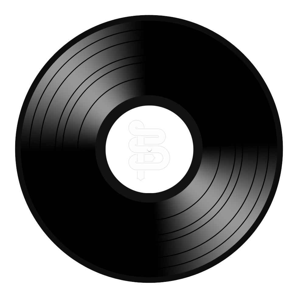 Vinyl inch album png. Record clipart 50's record