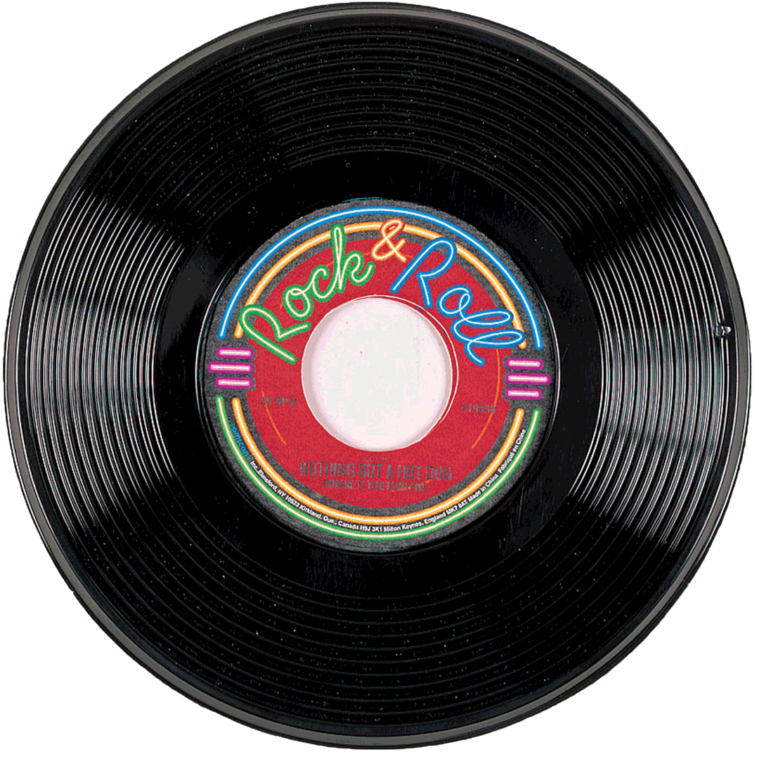 Entertainment of the s. Record clipart 50's record