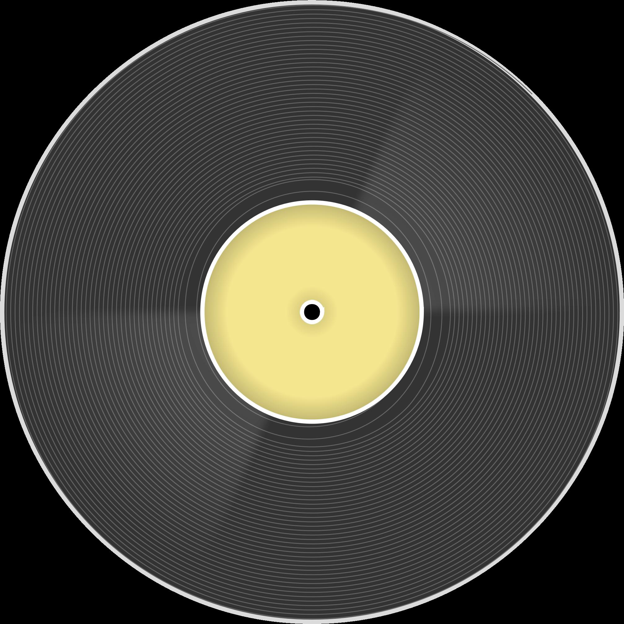 Record clipart data record. Vinyl disc big image