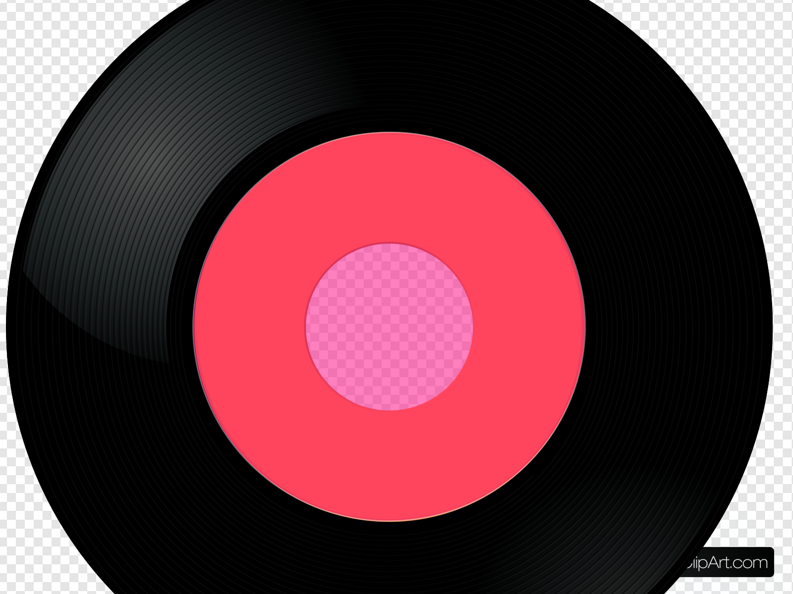Clip art icon and. Record clipart pink