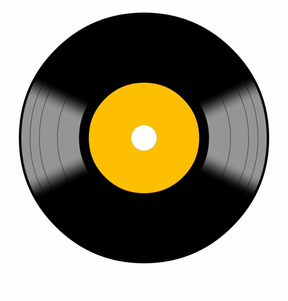 Record clipart print. Lp vinyl symbol icon