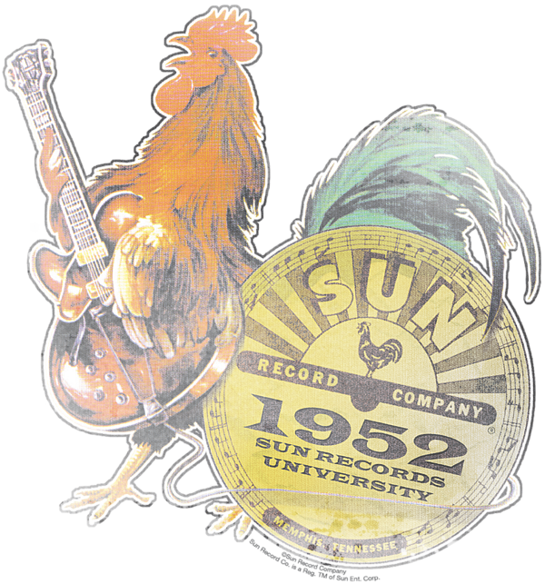 Record clipart rockin. Sun rooster kids t
