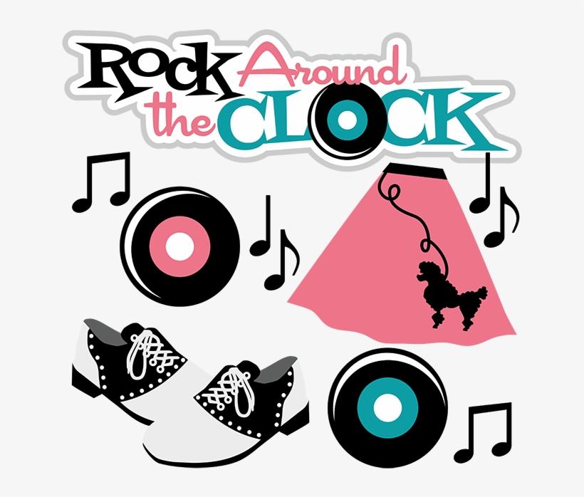 Record clipart rockin. Rock around the clock