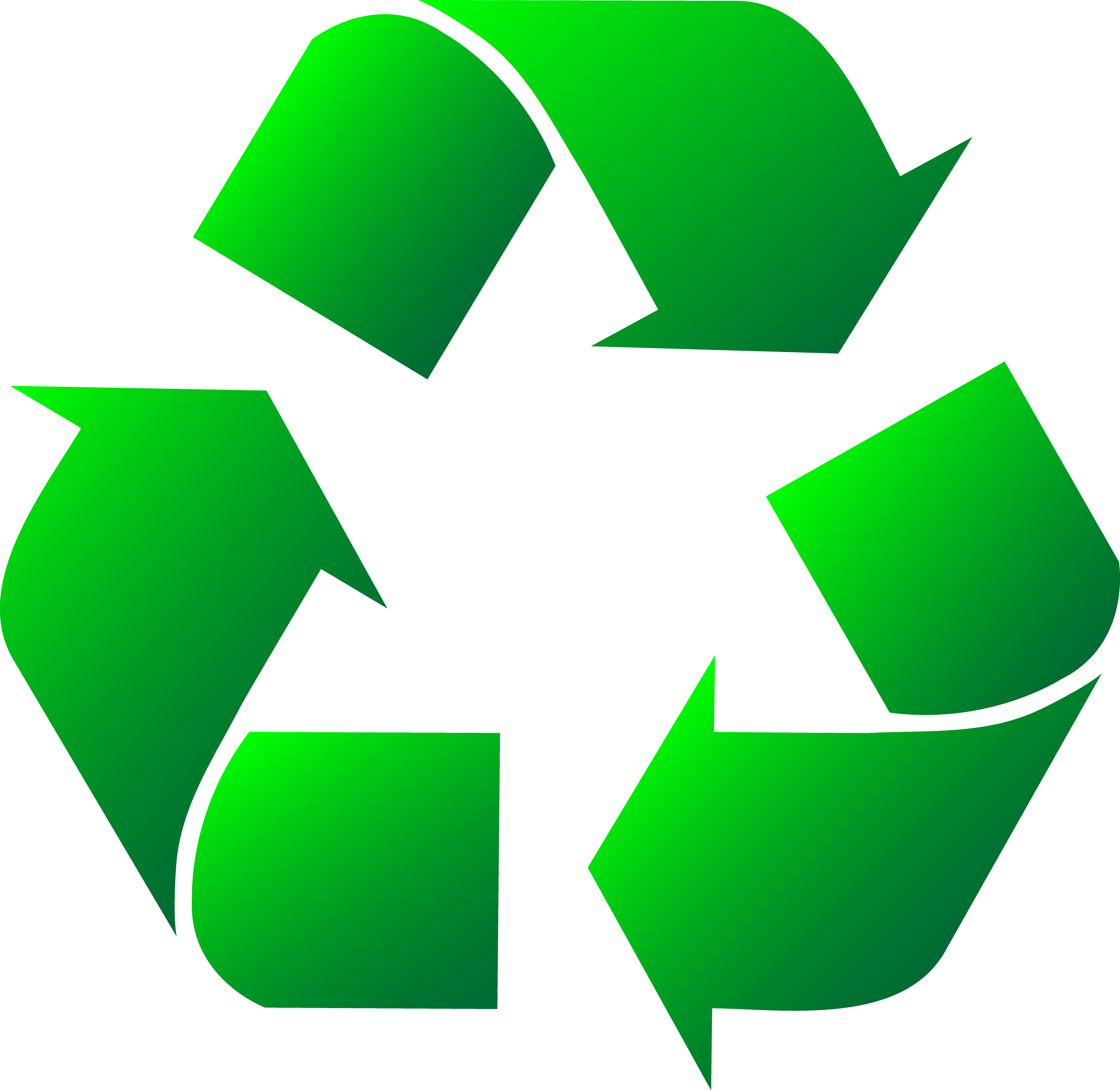Green recycle symbol clip. Environment clipart recycling