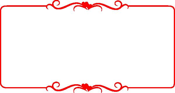Red border png. Hearts clip art at