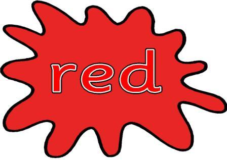 Splat pencil and in. Red clipart