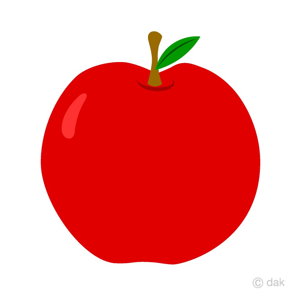 Red clipart. Simple apple free picture