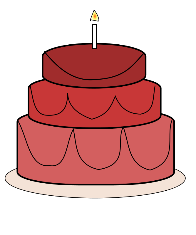 Red clipart cake. Portal