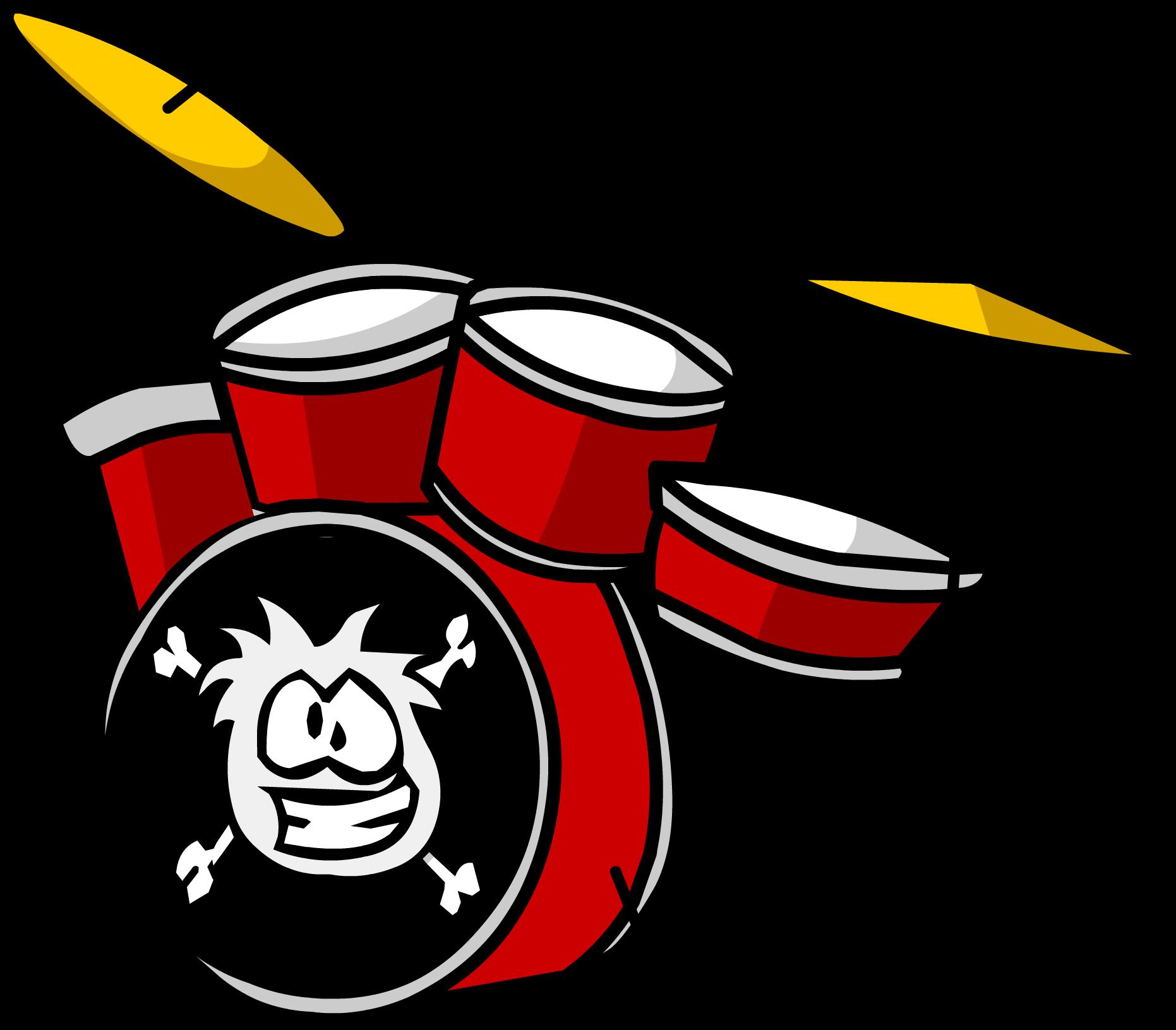 Image kit sprite png. Red clipart drum set