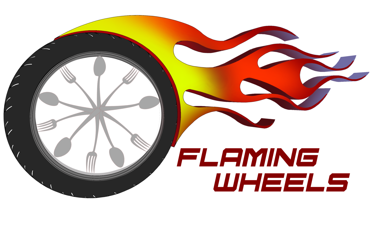 Flaming wheels first food. Watermelon clipart makanan