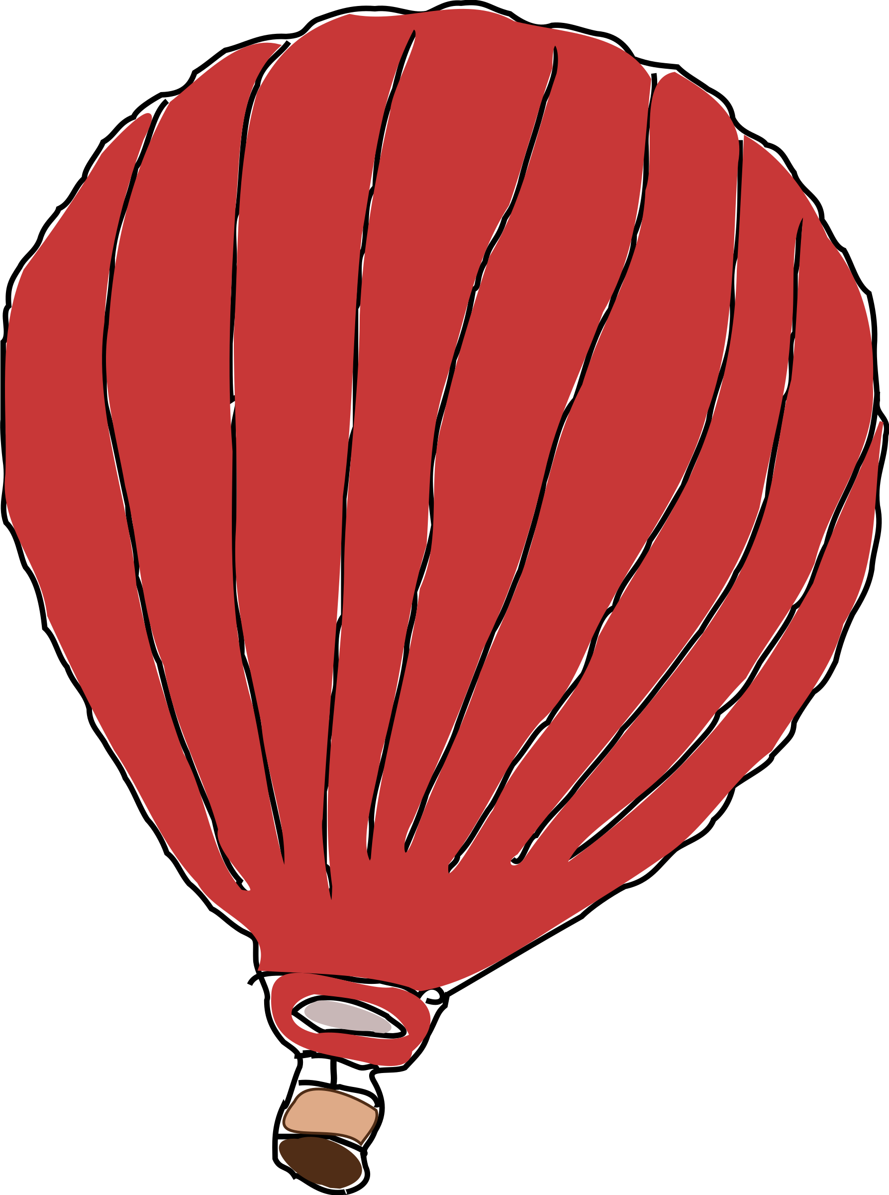 Big image png. Red clipart hot air balloon