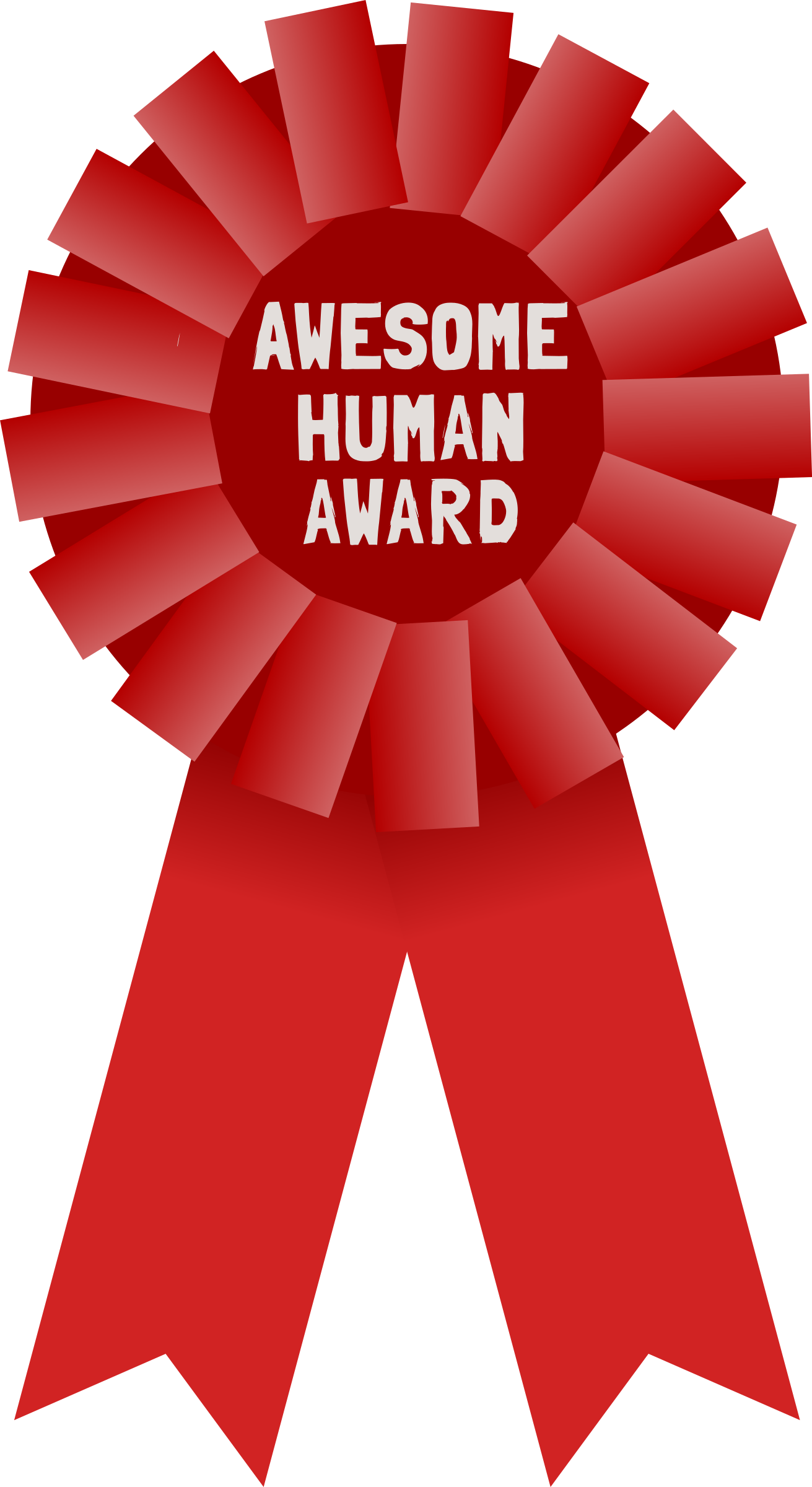 Awesome award big image. Red clipart human