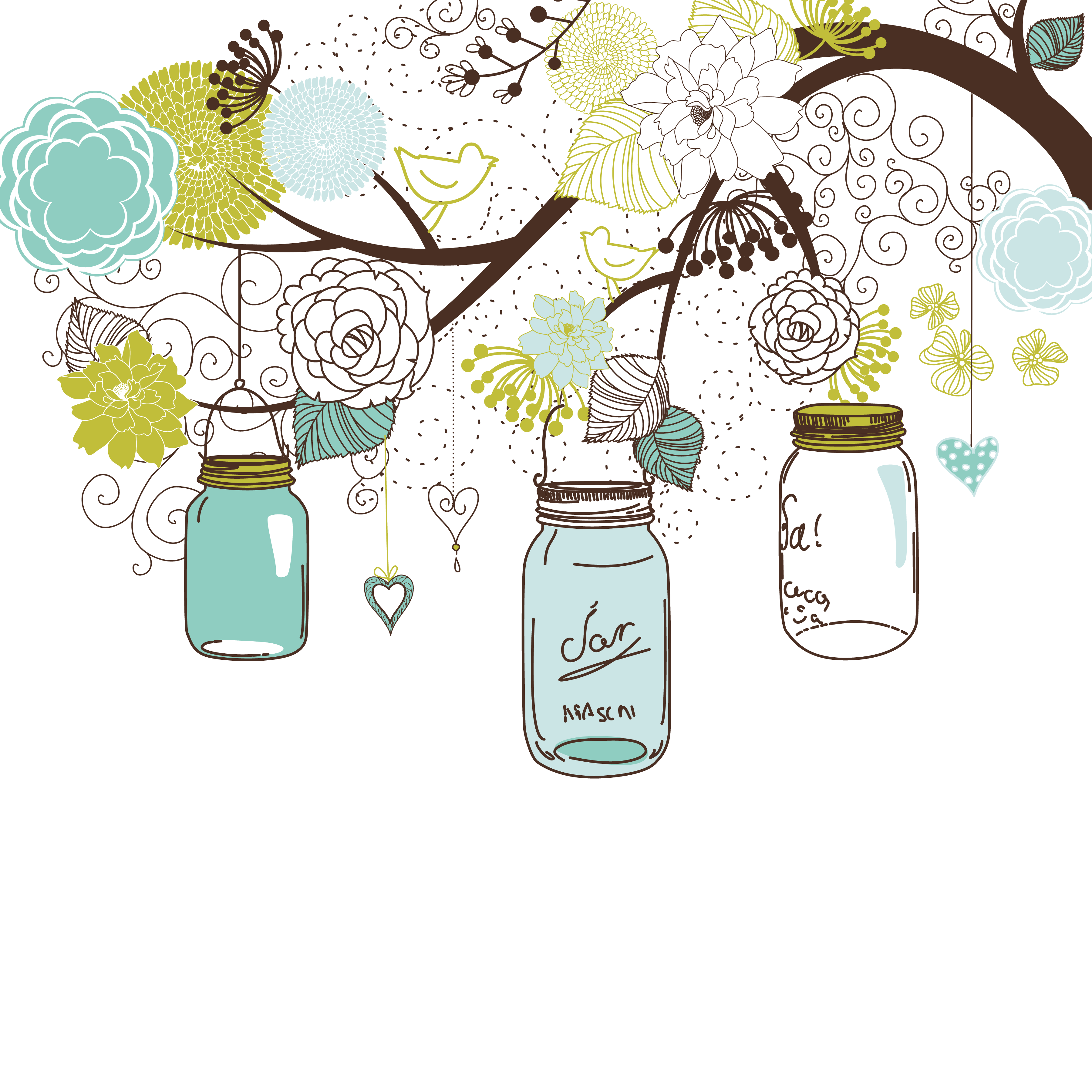 Baby shower invites background. Red clipart mason jar