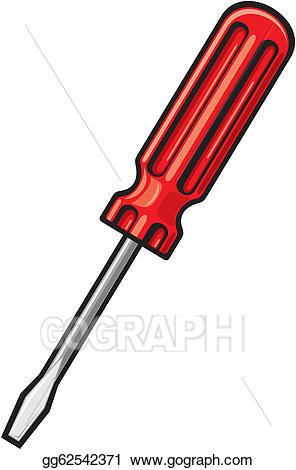 Vector art eps gg. Screwdriver clipart different