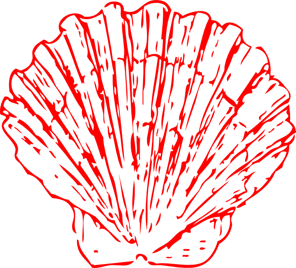 Seashell clip art at. Shell clipart red clipart