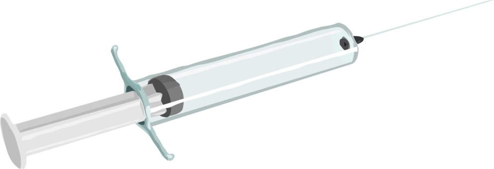 Red clipart syringe. Medicine injection hypodermic needle