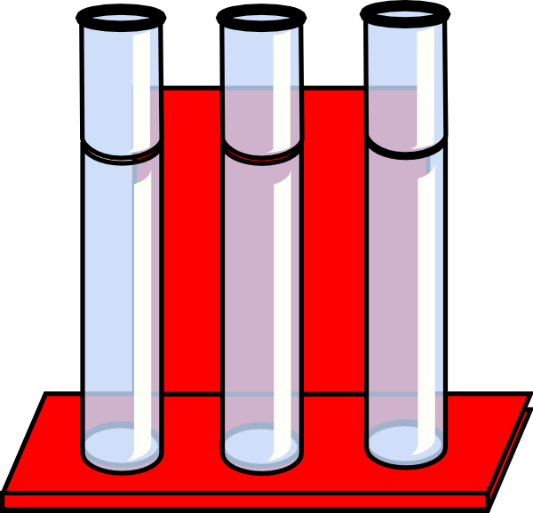 Test Tubes In Red Stand Clip Art at Clker