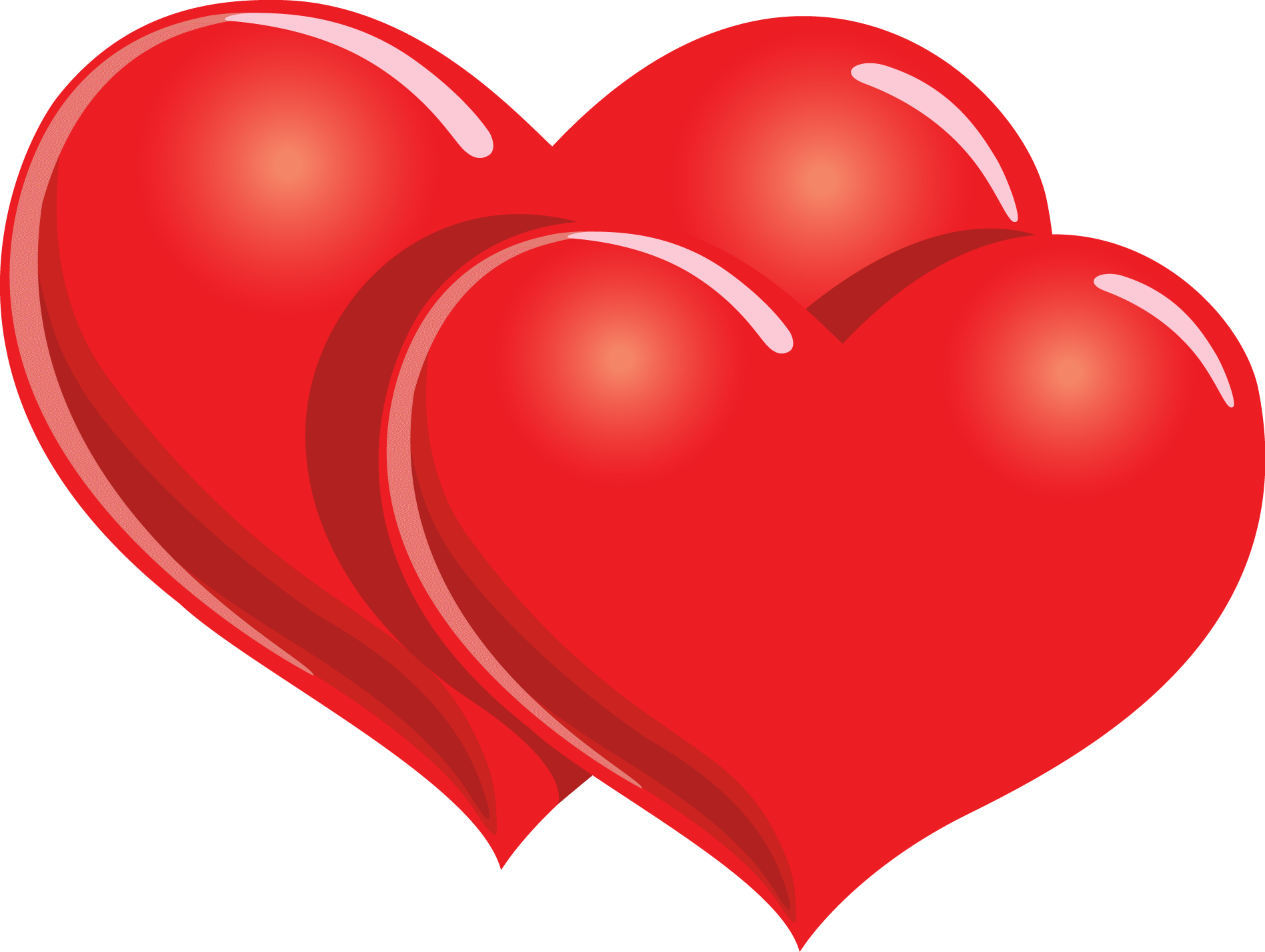 Happy valentines transparent stickpng. Two hearts png