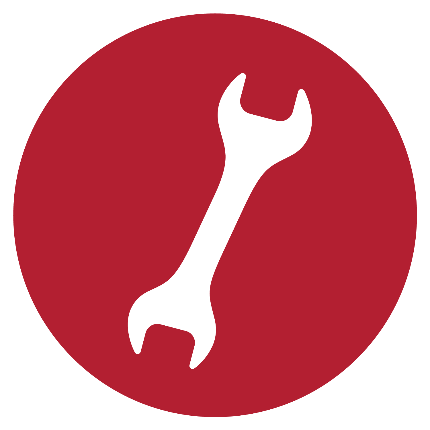 Wrench icons png vector. Screwdriver clipart red