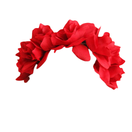 Transparent crazywidow info. Red flower crown png