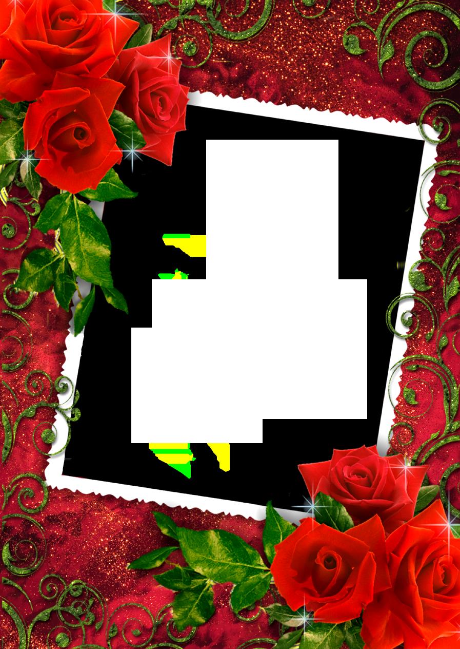 Red frame png. Rose frames images free